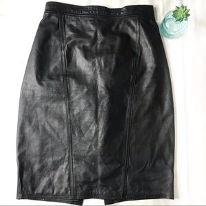 Fall Leather Pencil Skirt
